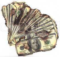 00 dollar bills burned