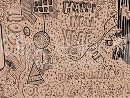 Happy New Year Doodle