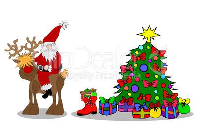 Christbaum Mit Weihnachtsmann