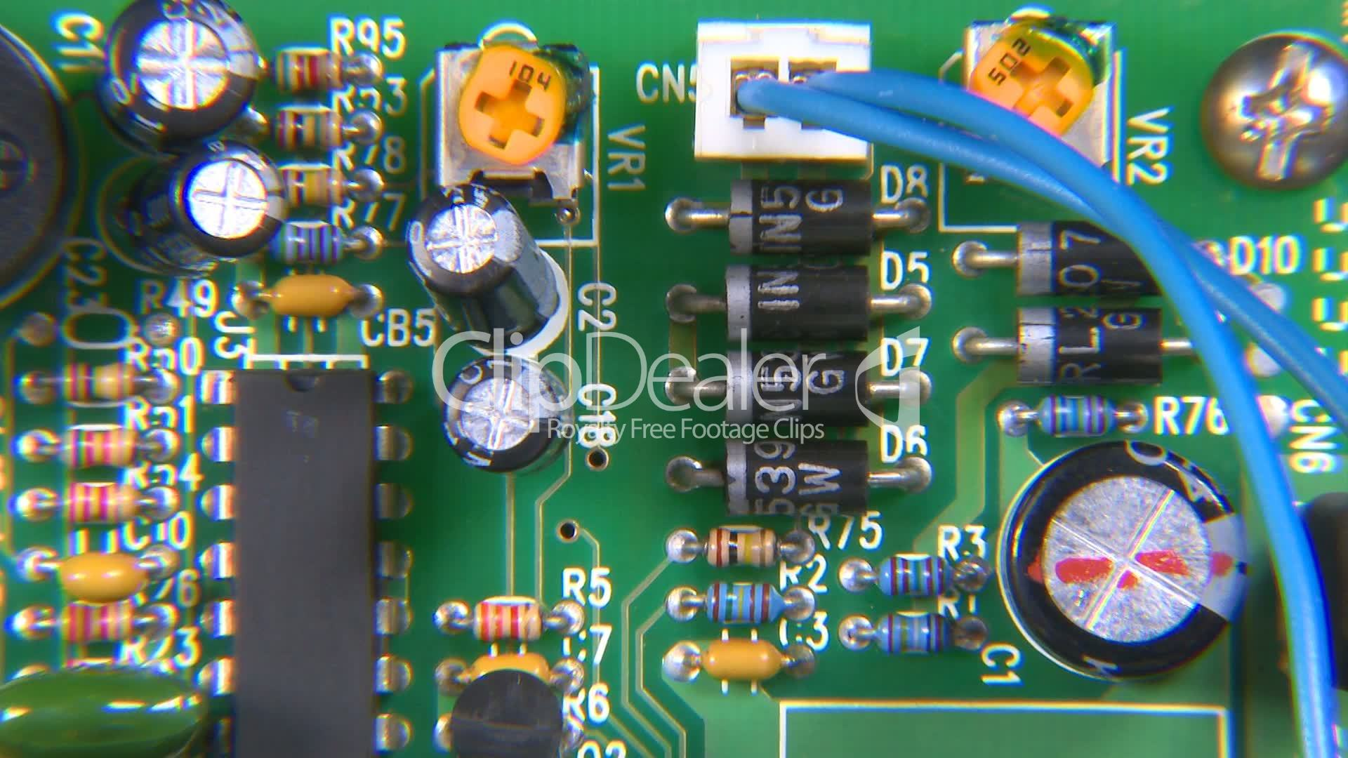 Electronic Circuit Board Dolly Forward Right Royalty Free Video And Electronics Circuitboard Videos