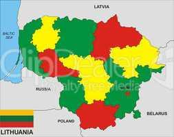 Lithuania map