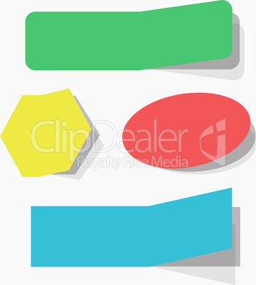 The colorful blank vector illustration of advertising coupons set