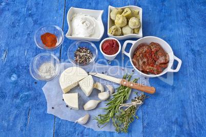 mediterrane Küchenzutaten