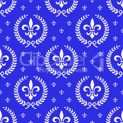 Blue royal seamless textile pattern
