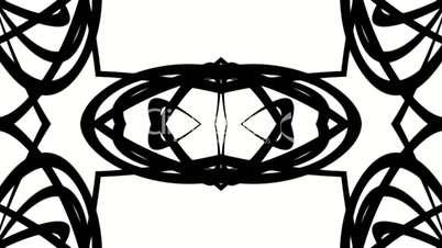 weave lines cable,black curve fancy silhouette.