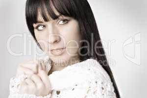 Porträt von einer hübschen Frau