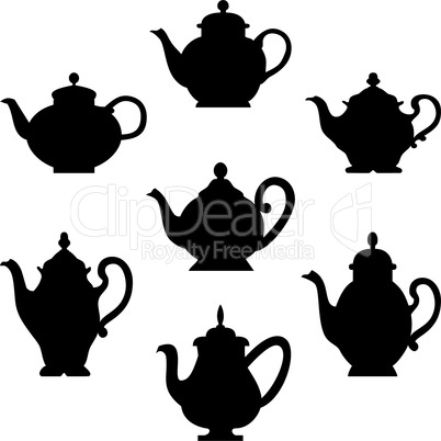 Set of coffee or teapots