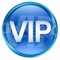 VIP icon blue, isolated on white background.