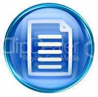 Document icon blue, isolated on white background