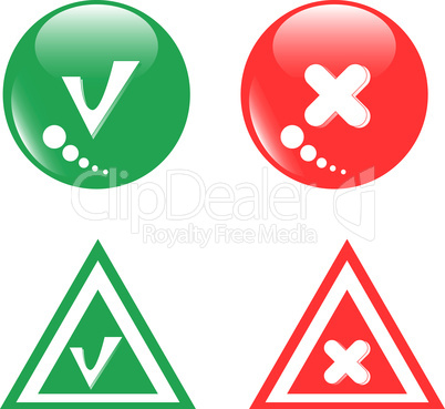 button green accept and red reject