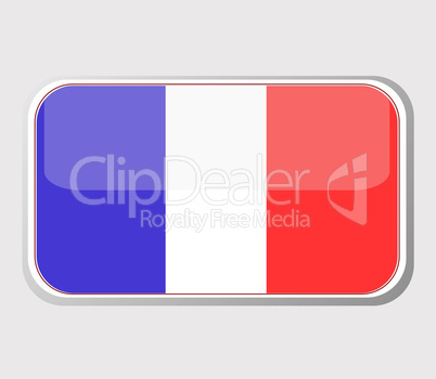 Flag of France in the form of an icon for a web of pages