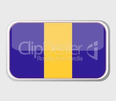 Flag of barbados in the form of an icon for a web of pages