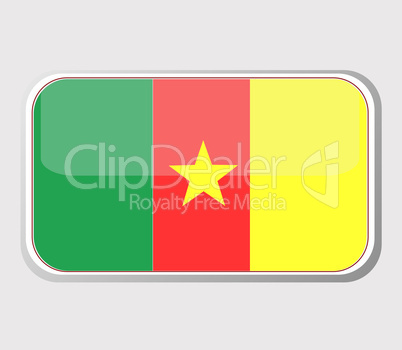 Flag of cameroon in the form of an icon for a web of pages