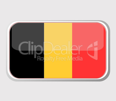Flag of belgium in the form