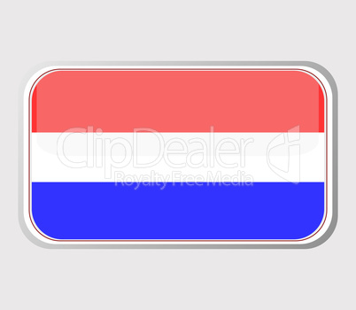 Flag of holland in the form of an icon for a web of pages