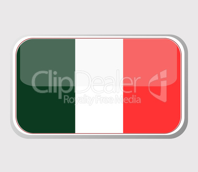 Flag of mexico in the form of an icon for a web of pages