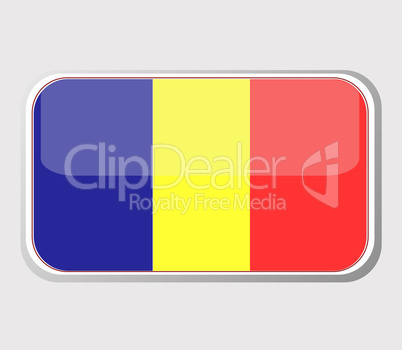 Flag of romania in the form of an icon for a web of pages