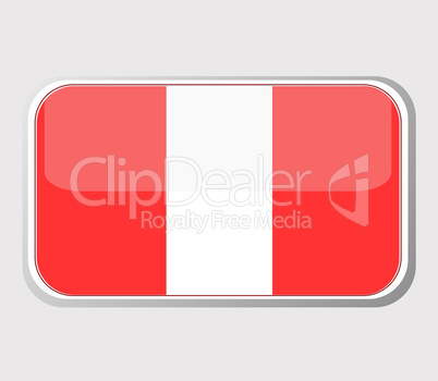 Flag of peru in the form