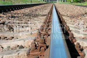 Railway rail that goes afield