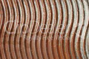 Old rusty metal washboard