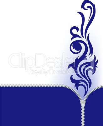 blue decoration on white.eps