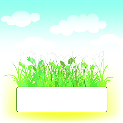 card with grass and clouds.eps