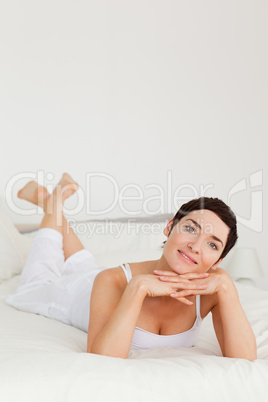 Portrait of a lovely woman posing