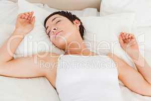 Serene woman sleeping