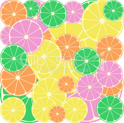 Citrus segments seamless background wallpaper