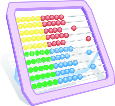 Multi-coloured abacus