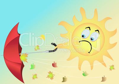 The sun with an umbrella
