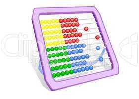 Multi-coloured abacus