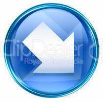 Arrow icon blue, isolated on white background