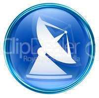 Antenna icon blue, isolated on white background