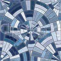 Radial mosaic tiles.  Seamless Textures