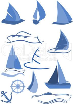 Wassersport Symbole