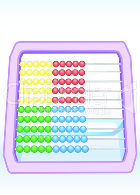 Multi-coloured abacus 2