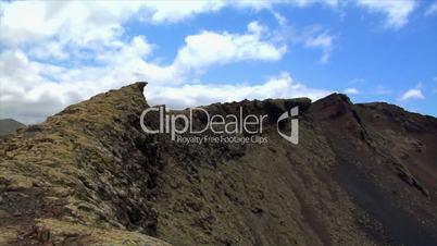 pan over vulcan area crater edge