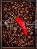 Chilipfeffer und Kaffee