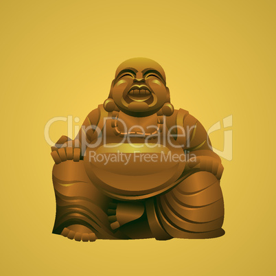 laughing buddha vector illustration
