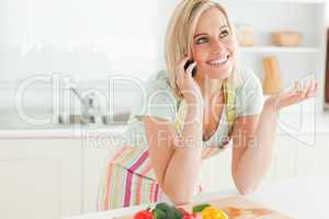 Gorgeous woman phoning