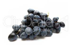 cluster of grapes with water drop