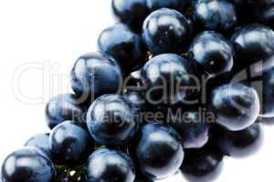 bunch of grapes isolated on white
