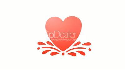 Rotation of heart.love,red,symbol,heart,valentine,romance,illustration,holiday,