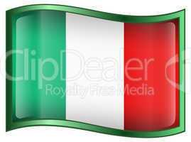 Italy Flag Icon, isolated on white background