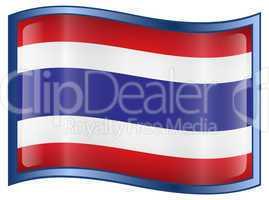 Thailand Flag icon, isolated on white background