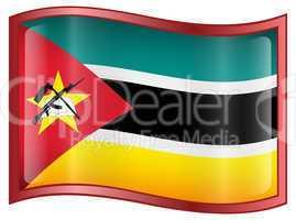 Mozambique Flag Icon.