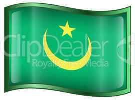 Mauritania Flag icon.