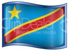 Congo Flag Icon.