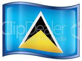 Saint Lucia flag icon.
